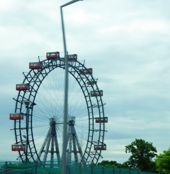 The Wiener Riesenrad (Vienna Giant Wheel) at 212 ft. tall and built in 1897 is the oldest operating ferris wheel in the world. Built for the Golden Jubilee of Franz Josef. It now has 15 wooden gondolas which can be rented out for weddings, dinners, and parties.