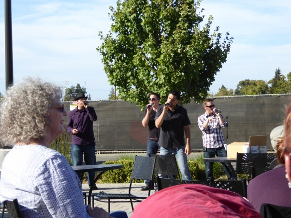 Hookslide singing at the San Antonio shopping center