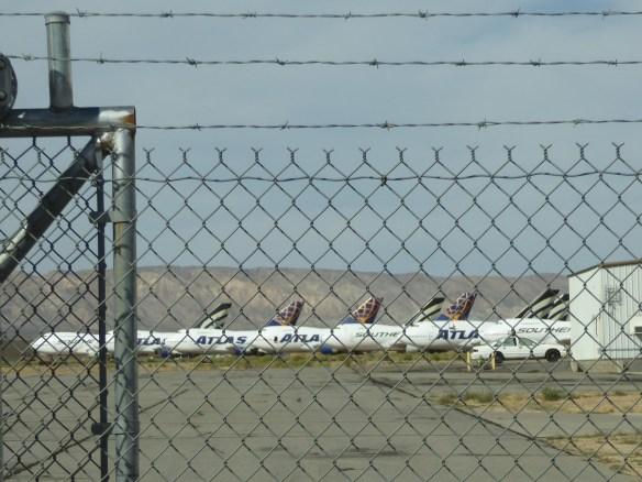 Stored aircraft