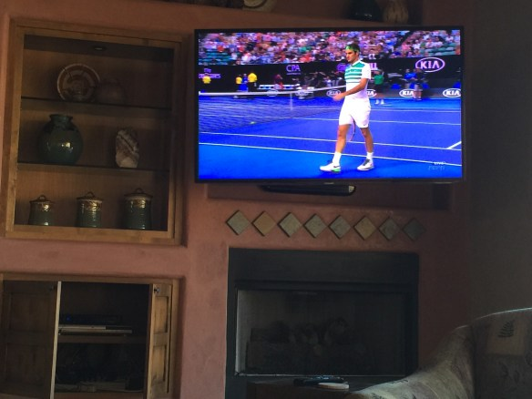 Watching Roger play at the Australian Open