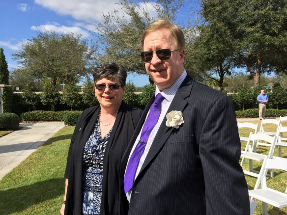 The mother and father of the groom