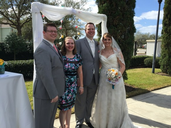 Andy and Brittany with Mike and Becca