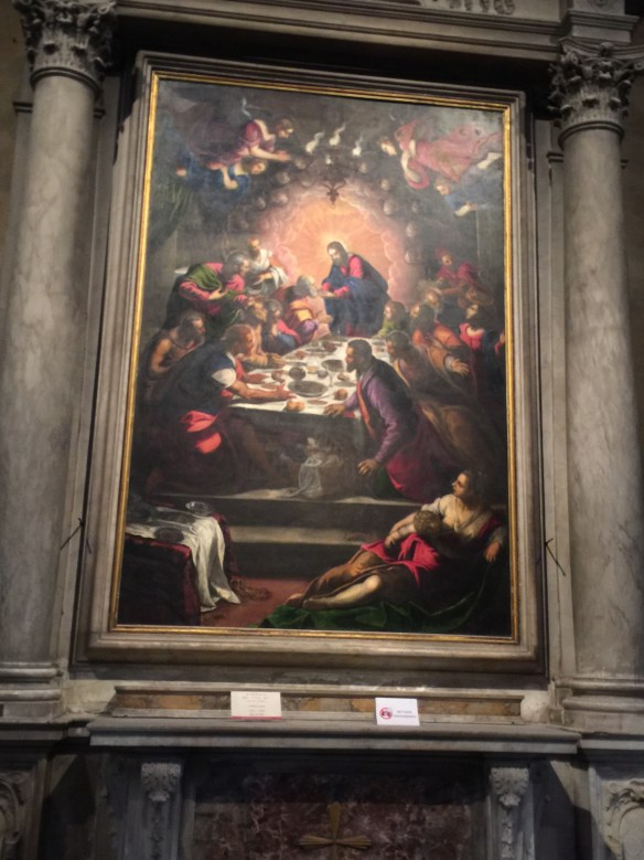 There are many important works of art in here including a Last Supper by Tintoretto