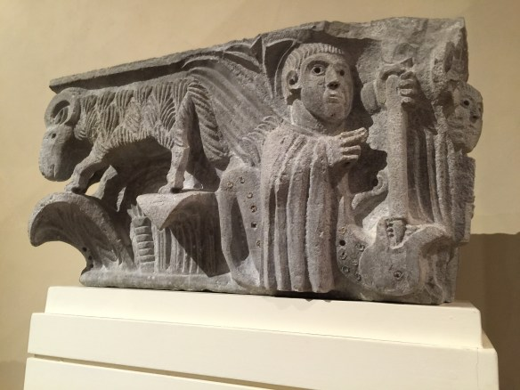 After lunch we head to the Villa Guinigi Museum, home to artifacts from the Etruscan civilization to paintings from the 17th century. We concentrate on the 13th to 15th century artwork and sculpture such as this paleo-Christian capital.