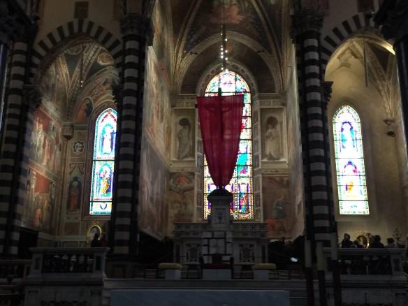 Frescoed altar area of the duomo