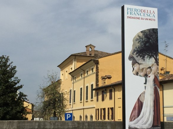 Banner outside the San Domenico Museums advertising the exhibition