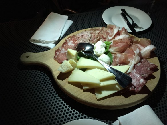 Cheese and salumi for dinner