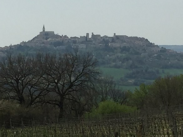 The hill town of Todi in the distance
