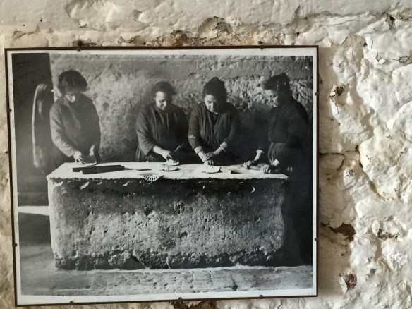 A picture of women making matzoh