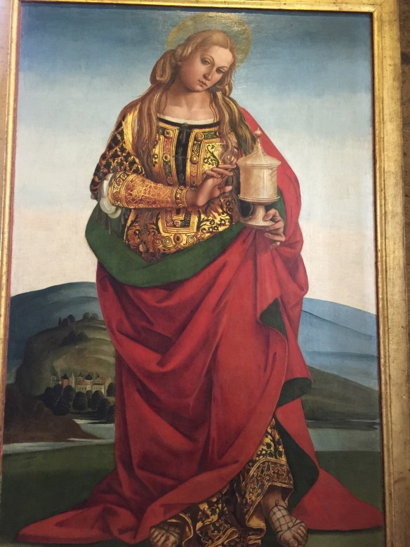 Luca Signorelli's 1504 painting of Mary Magdalene which used to hang in the Cappella Nuova but was taken down to make way for a choir loft.