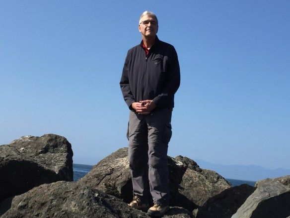 John standing on a jetty in Neah Bay