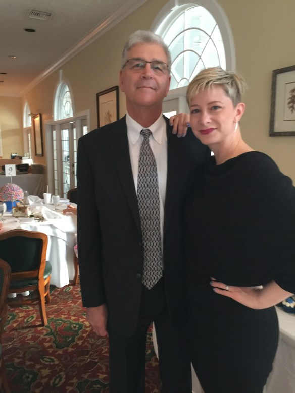 John and Sarah at reception
