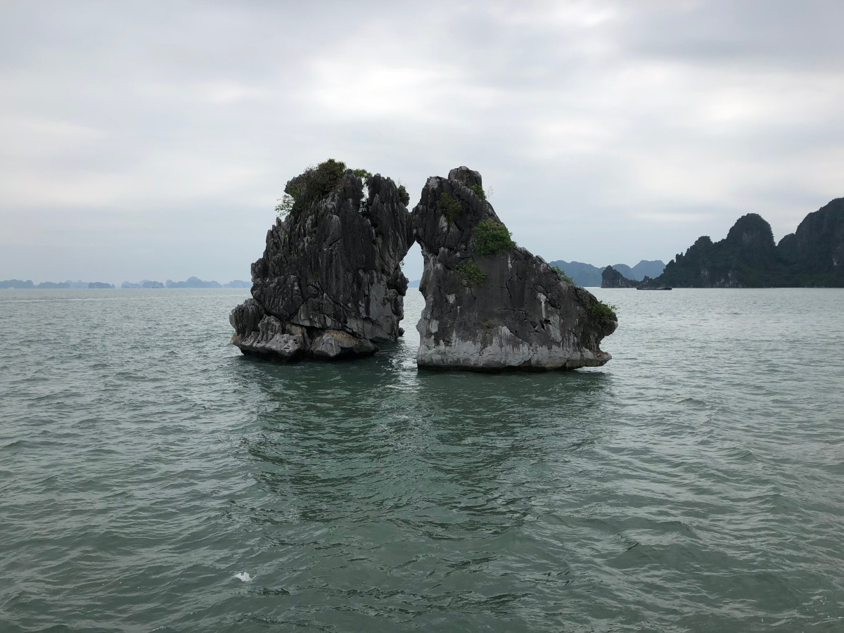 Sailing by junk on Ha Long Bay. 11/19/19