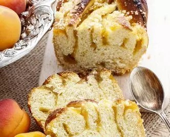 Apricot cake. Autumn party dessert