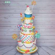 Torta caramelle per la piccola Rosa ed il suo primo compleanno