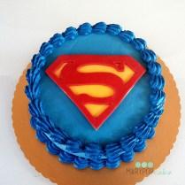 Superman! Una torta semplice ma di effetto.