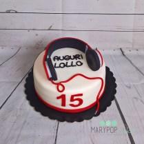 torta cuffie DJ