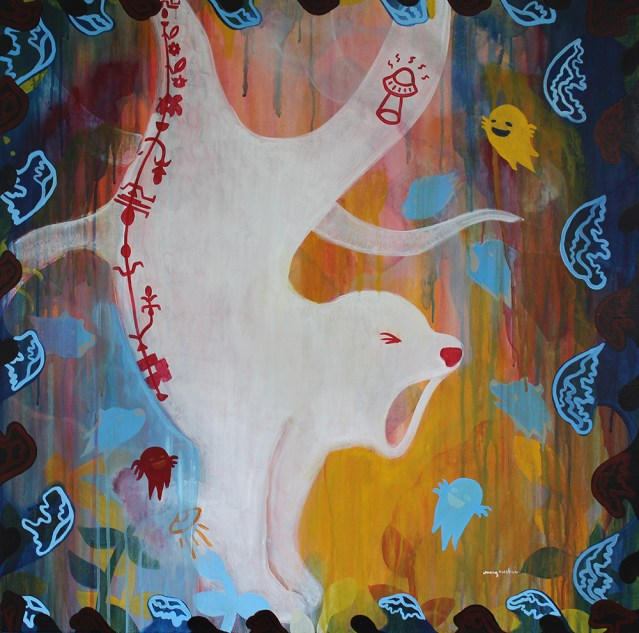 "Ghosts // acrylic on canvas // 30"" x 30"""
