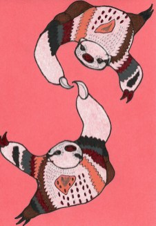 "Sloth Dance // 7"" x 5"""