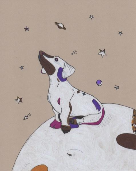 """Moon Pup // 10"""" x 8"""""""