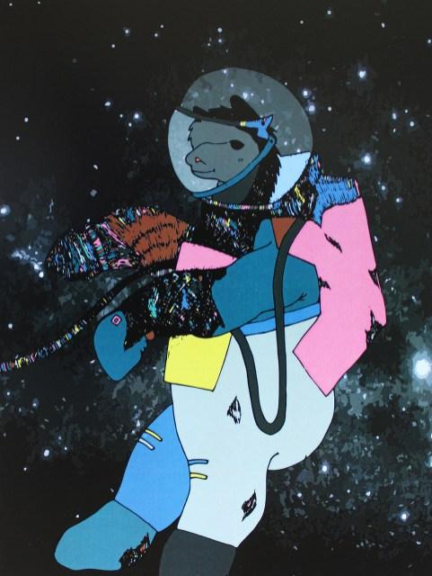 "Space Alpaca // 10"" x 8"""