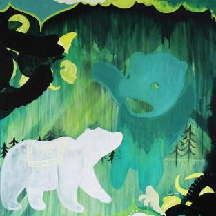 "Emerald Forest // acrylic on canvas // 30"" x 30"""