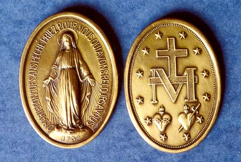 The Medal of the Immaculate Conception, popularly known as the Miraculous Medal