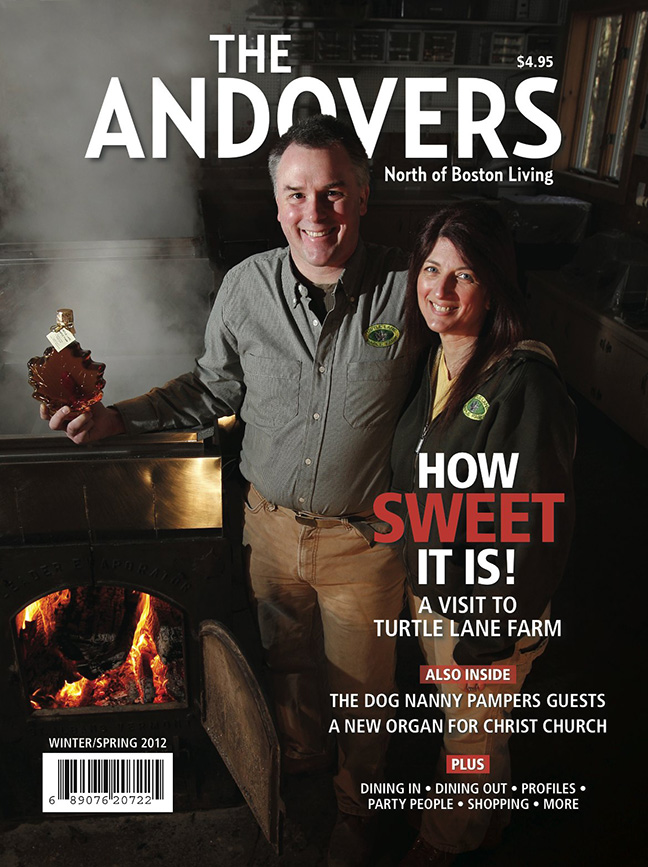 Every year, Paul Boulanger and Kathy Gallagher open up the backyard of their North Andover home to the community as they share their love for making maple syrup.
