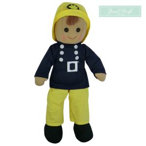 Fireman Rag Doll Powell Craft Boutique Mary Shortle