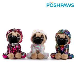 Posh Paws Sitting Pug Mary Shortle