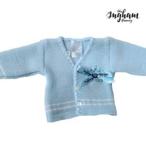 The Ingham Family Blue Cardigan Mary Shortle