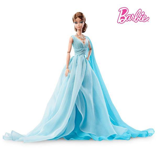 Blue Chiffon Ball Gown Barbie Doll