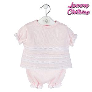 Pointelle knitted Top & Bloomer Luxury Clothing Mary Shortle