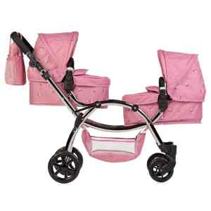Roma Darcie Twin Dolls Pram Pink Mary Shortle
