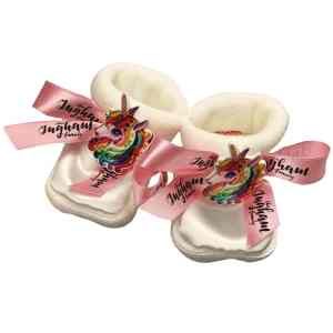 White Ingham Booties Mary Shortle