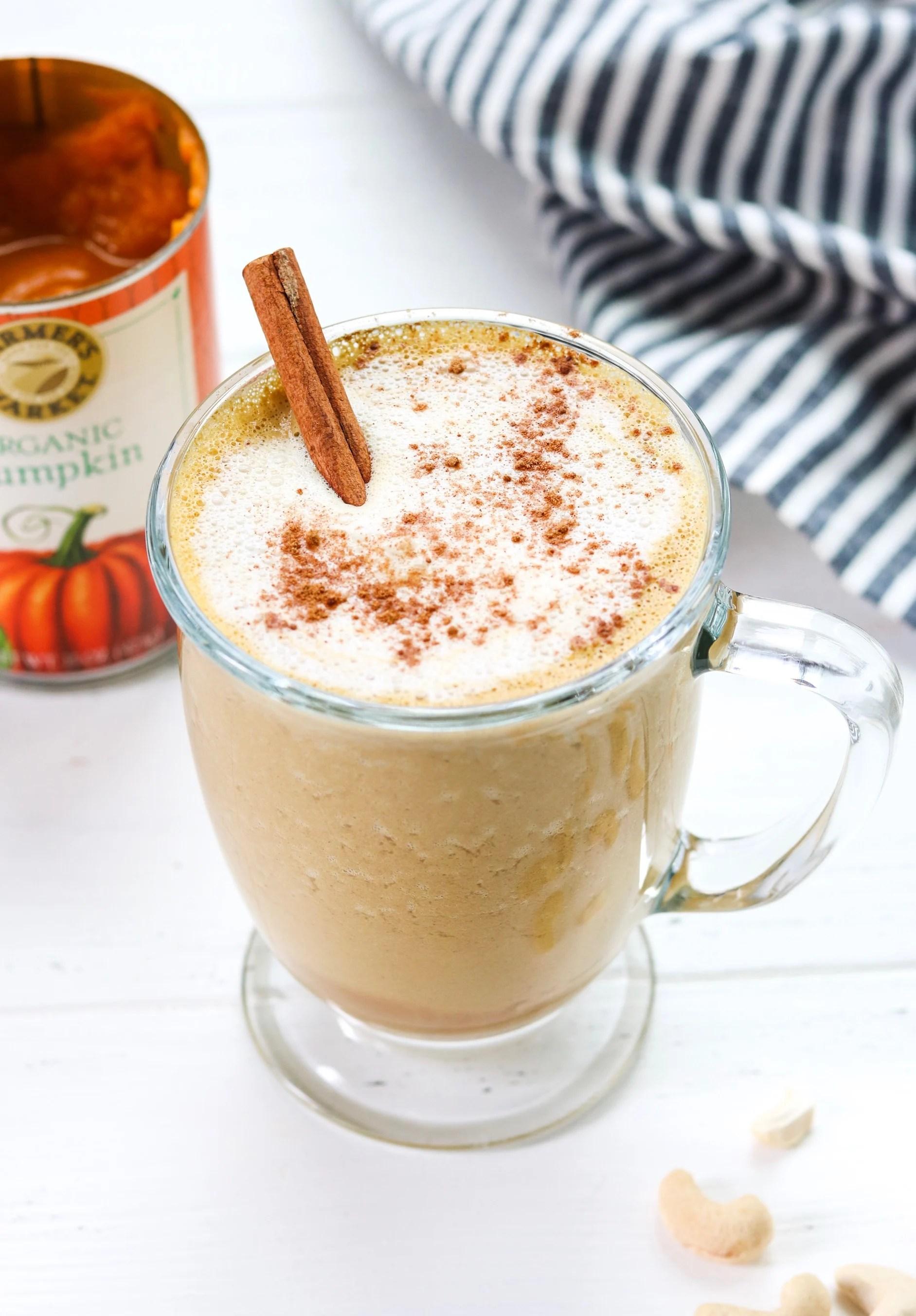 Creamy Cashew Pumpkin Spice Latte {Whole30, Vegan}