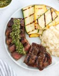 Grilled New York Strip with Chimichurri Sauce