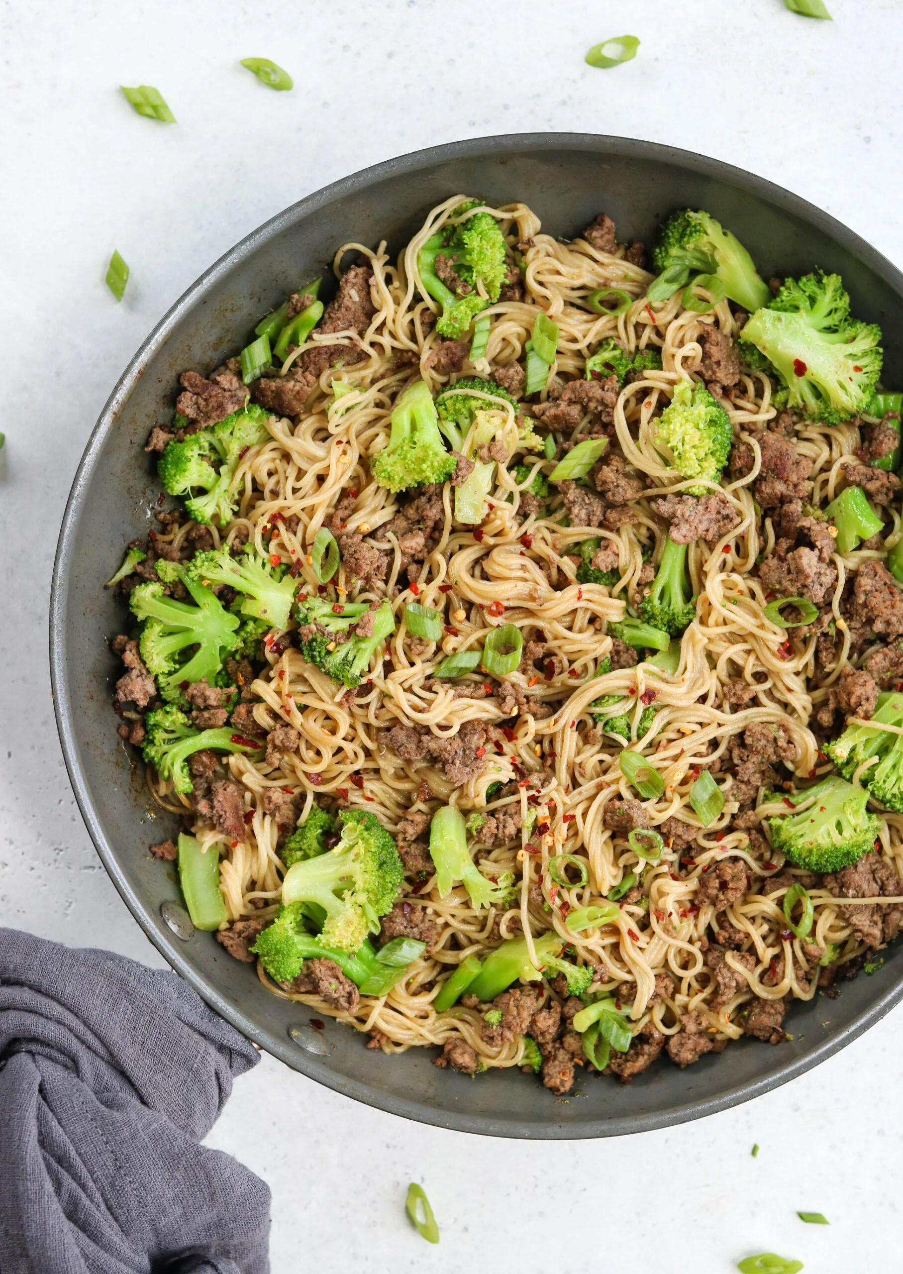 Beef and Broccoli Ramen Stir Fry (Gluten Free)