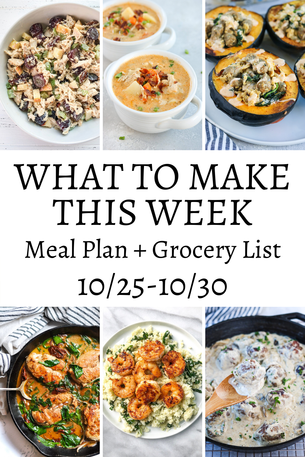 What To Make This Week – 10/25-10/30