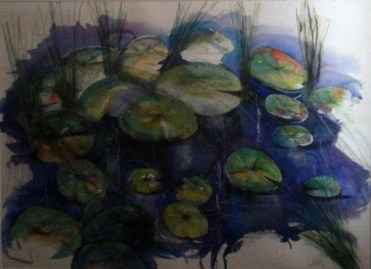 2015 Natural Flora equal winner Pond by Jennie Hawkes Wright