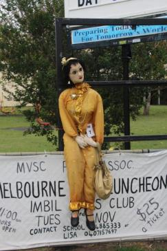 IM07 Scarecrow Name: Miss Imbil Owner: Heinke Butt - Imbil State College Yabba Rd 15 Edward Street Imbil 4570 Registration Centre: Imbil Category: Traditional