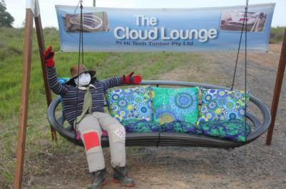 IM15 Scarecrow Name: Loungechair Larry Owner: Nelson Corbett 315 Kandanga Imbil rd Imbil 4570 Registration Centre: Imbil Category: Artistic