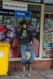 IM06 Scarecrow Name: Trev the Trolleyman Owner: Imbil Friendly Grocer 93 Yabba Rd Imbil 4570 Registration Centre: Imbil Category: Artistic