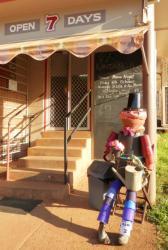 KA02 Scarecrow Name: Billy Bob Owner: Donna Rubeck Kandanga snack bar, 50 Main Street Kandanga 4570 Registration Centre: Kandanga Category: Artistic