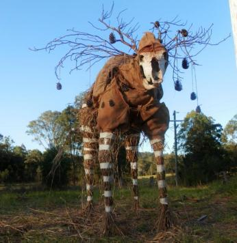 KA11 Scarecrow Name: Glen II – The drear Crow Owner: Crystal Rain Aylmer 2 Knobby Glen Rd Kandanga 4570 Registration Centre: Kandanga Category: Artistic