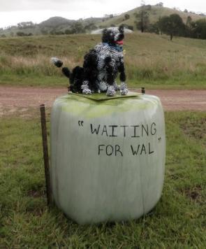 KA12 Scarecrow Name: Waiting for Wal Owner: Kelsie Hughes 110 O Farrel Road Kandanga 4570 Registration Centre: Kandanga Category: Artistic