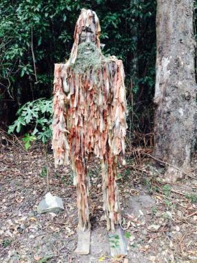 KEN08 Scarecrow Name: Yowie Owner: Jo McKenzie Kenilworth-Maleny Rd (Near Charlie Mooreland) Registration Centre: Kenilworth Category: Artistic
