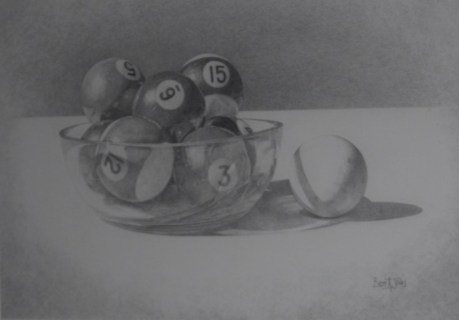 2015 Drawing winner Pool Balls by Brett Jones