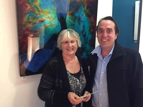 Animalia winner Kathy Burden with sponsor Chris Hooper