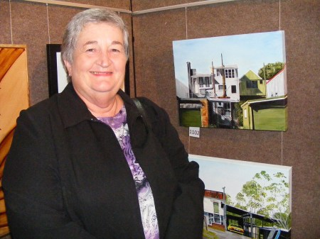 Penny Horne with her winning entries for the G150 Heritage category.